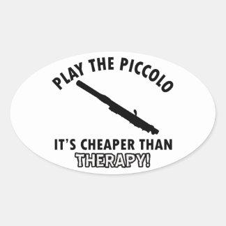 piccolo therapy design oval sticker