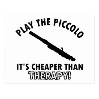 piccolo therapy design postcard