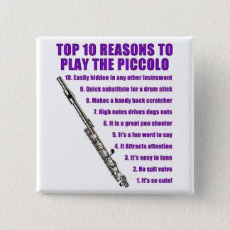 Piccolo Top 10 15 Cm Square Badge
