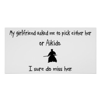 Pick Girlfriend or Aikido Posters