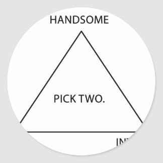 Pick only two classic round sticker