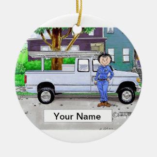 Pick Up Truck, Blue - Female Christmas Ornament