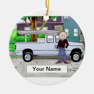 Pick Up Truck, Blue - Male Christmas Ornament