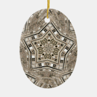 Picket Pentacles Christmas Ornament