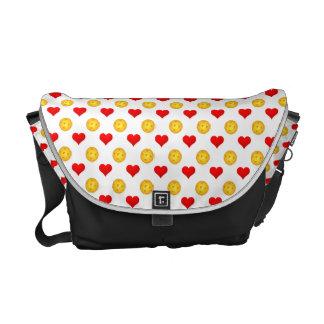 Pickleball Love (Hearts) Medium Messanger Bag Commuter Bag