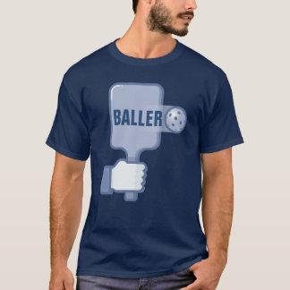 """Pickleball T-shirt: """"BALLER"""" (Blue) T-Shirt"""