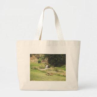 Picnic table large tote bag