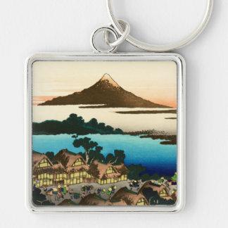 Pictorial Envelope 36 Views of Mount Fuji, Hokusai Key Ring