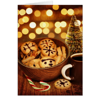 Picture of Christmas time gingerbread Card