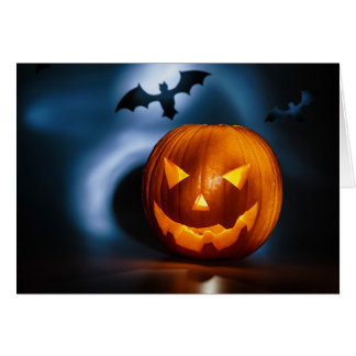 Picture Of Halloween Holiday Background, Carved Greeting Cards