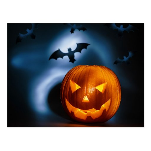 Picture Of Halloween Holiday Background, Carved Postcards