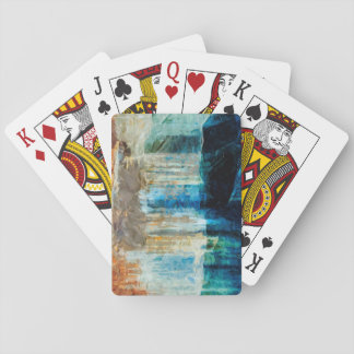 Pictured Rocks National Lakeshore Abstract Playing Cards