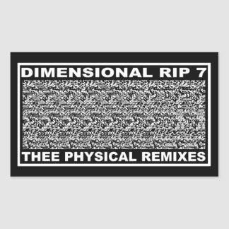 PICTUREPLANE - 'DIMENSIONAL RIP 7' RECTANGULAR STICKER