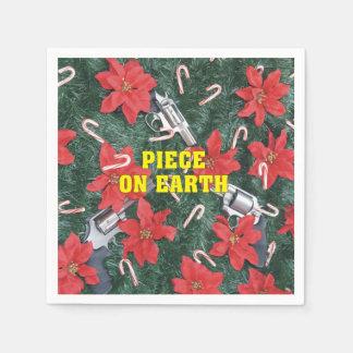Piece On Earth Gun Christmas Disposable Serviette