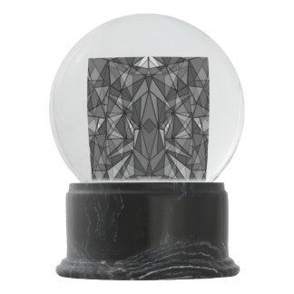 PiecedLayered BandW Snow Globes