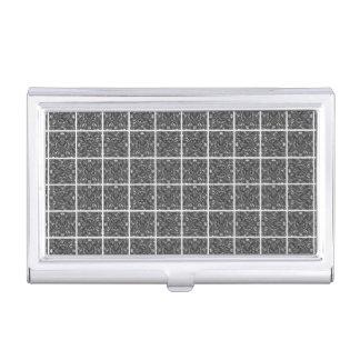 PiecedLayered Tiles 6x6 BandW Business Card Holder