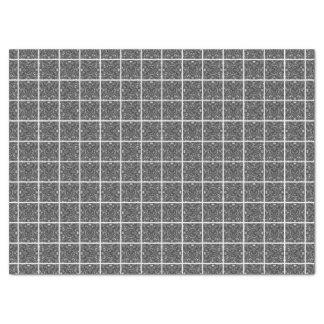PiecedLayered Tiles 6x6 BandW Tissue Paper