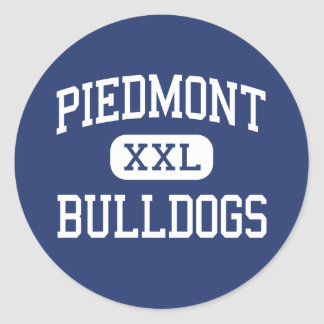 Piedmont Bulldogs Middle Piedmont Alabama Classic Round Sticker