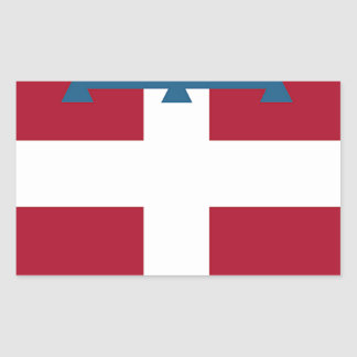 Piedmont (Italy) Flag Rectangular Sticker
