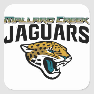 Piedmont Youth Football Mallard Creek Jaguars Square Sticker