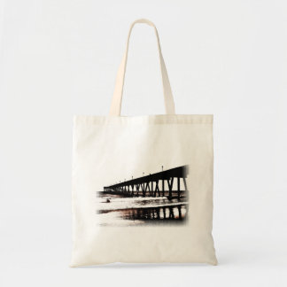 Pier and Surf in (mostly) Black and White Tote Bag