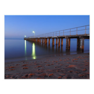 Pier at twilight photographic print
