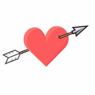 Pierced Heart Photo Cut Out Magnet