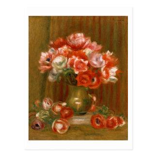 Pierre A Renoir | Anemones Postcard
