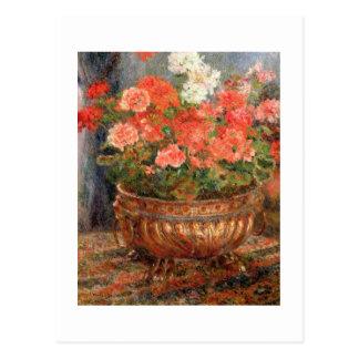 Pierre A Renoir | Geraniums in a Copper Basin Postcard