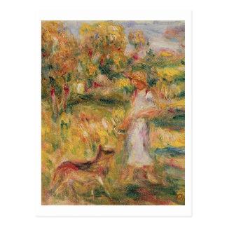 Pierre A Renoir | Landscape with the artist's wife Postcard