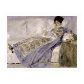 Pierre A Renoir | Madame Monet on a Sofa Postcard