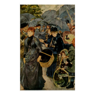 Pierre-Auguste Renoir's The Umbrellas (1883) Poster