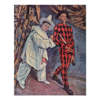 Pierrot and Harlequin Poster