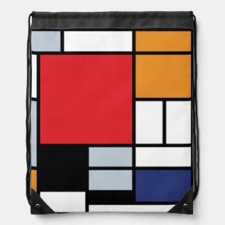 Piet Mondrian - Composition with Large Red Plane Drawstring Bag