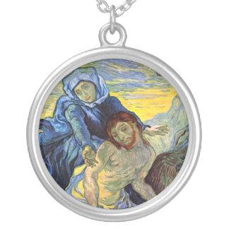 Pietà (after Delacroix) 1889, Vincent Van Gogh Silver Plated Necklace