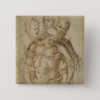 Pieta, attributed to either Giovanni Bellini (c.14 15 Cm Square Badge