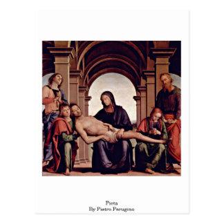 Pieta By Pietro Perugino Postcard