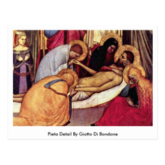 Pieta Detail By Giotto Di Bondone Postcard