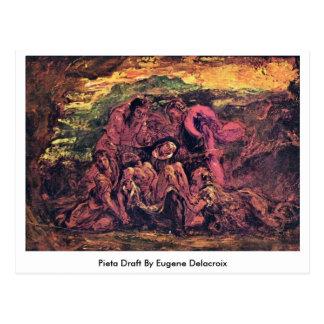 Pieta Draft By Eugene Delacroix Postcard