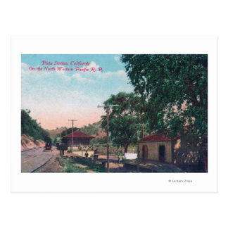Pieta Northwestern Pacific RR Station Postcard