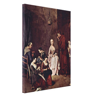 Pietro Longhi - The Temptation Gallery Wrapped Canvas