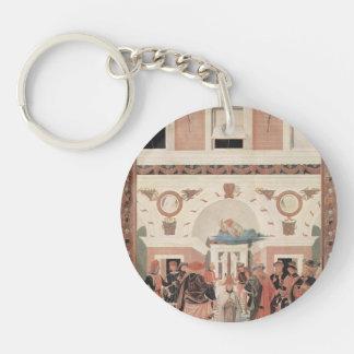 Pietro Perugino-The Miracles of San Bernardino Keychain