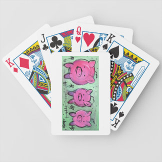 pig bicycle playing cards