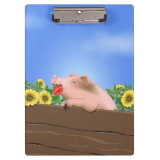 Pig in Pan Clipboard