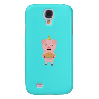 Pig King with Crown Q1Q Galaxy S4 Case