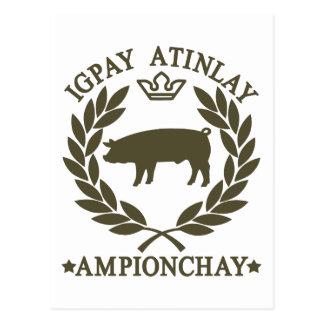 Pig Latin Post Card