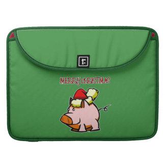 Pig Merry Christmas MacBook Pro Sleeves