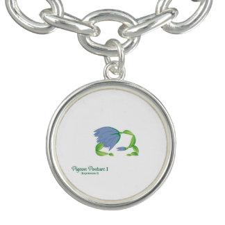 (Pigeon Posture I) Round Charm Bracelet