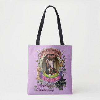 Piggienini Funny Cute Pig Animal Composer Paganini Tote Bag