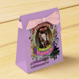 Piggienini Great Animal Composer Paganini Cute Pig Wedding Favour Box
